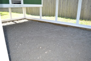 Gravel in chicken coop